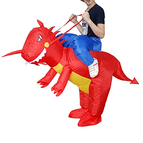 Vantina Inflatable Rider Costume Riding Me Dress Dinosaur Suit Mount Kids (Luminous Fancy Dress Costumes)