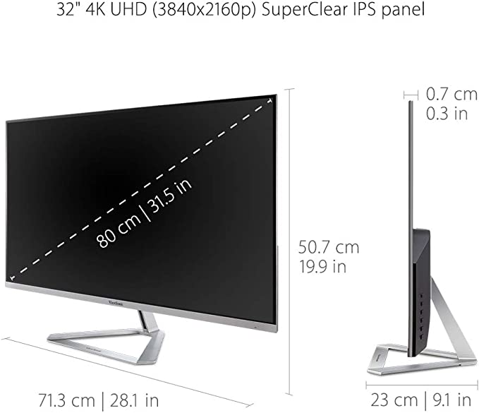 Viewsonic VX Series VX3276-4K-MHD monitor piatto per PC 81,3 cm (32