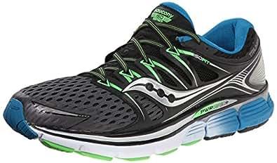 Saucony Men's Triumph ISO Running Shoe, Grey/Black/Slime,8 M US