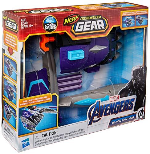 Lança Dardos Assemble Gear 2.0 Pantera Negra Avengers Preto/azul