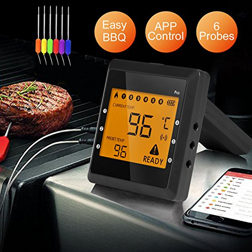 Bluetooth Thermometer Wireless Grilling Function