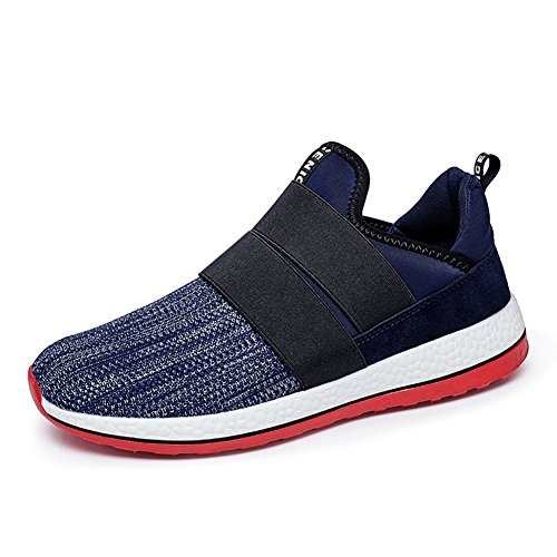GOMNEAR Lightweight Running Shoes Men Slip-On Casual Fashion Sneakers Breathable Athletic Sports by Blue
