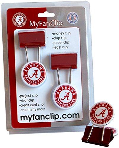 NCAA Alabama Crimson Tide MyFanClip Multipurpose Clips (Pack of 2) (Tide Alabama Crimson Paper Clip)