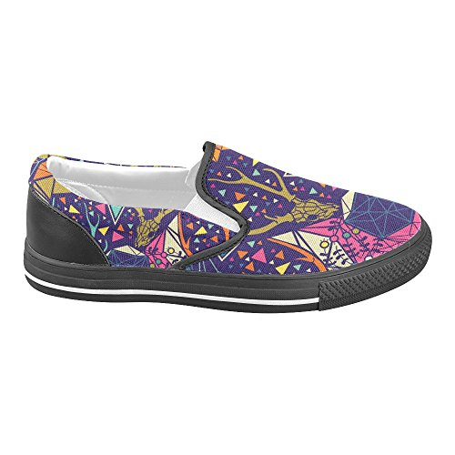 Unique Debora Custom Fashion Mujeres Sneakers Inusual Mocasines Slip-on Canvas Zapatos Multicoloured4