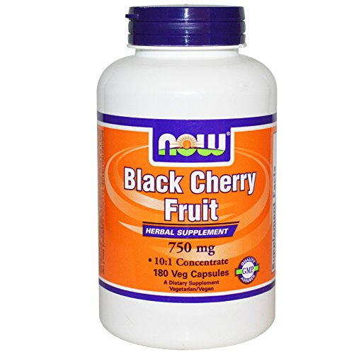 Now Foods Black Cherry Fruit 750 mg – 180 Veg Capsules 4 Pack Review