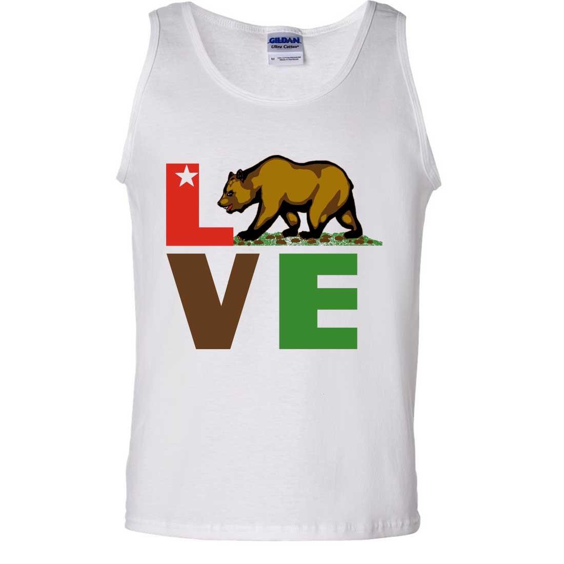 California Republic Love Bear Asst Colors Tank Top Shirts