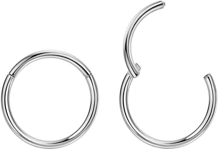 Amazon Com 2pcs G23 Titanium 7mm Nose Hoop Septum Ring 14 Gauge