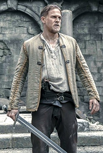 King Arthur Legends Of The Sword Movie Dress Brown Cotton Jacket For Mens L by Class Jackets (Image #2)
