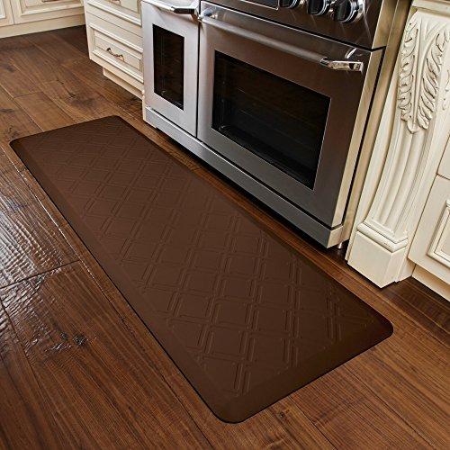 WellnessMats MM62WMRBRN Moire Motif Kitchen Mat, 72'' by 24'', Brown by WellnessMats (Image #2)
