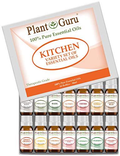 Kitchen Essential Oil Set 14-10 ml. 100% Pure Therapeutic Grade...