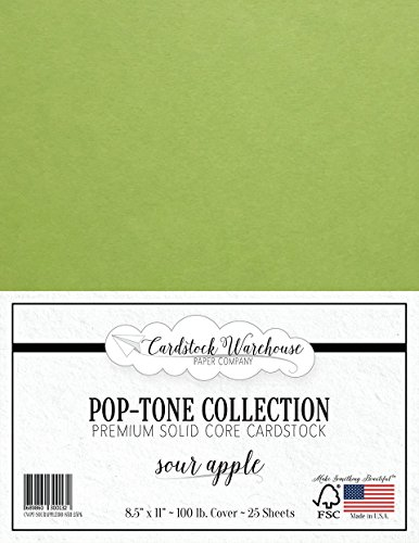 SOUR APPLE GREEN Cardstock from Cardstock Warehouse - 8.5
