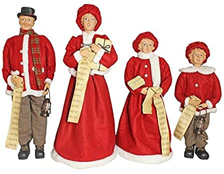 Christmas Carol Singers Decorations.Traditional Christmas Carol Singers 92cm 3ft Elegantly