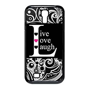 Customized Durable Case for SamSung Galaxy S4 I9500, live laugh love Phone Case - HL-515847