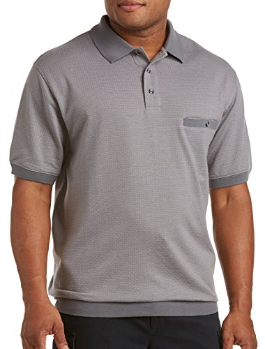 Harbor Bay Big & Tall Diamond Dot Banded-Bottom Shirt (4X...
