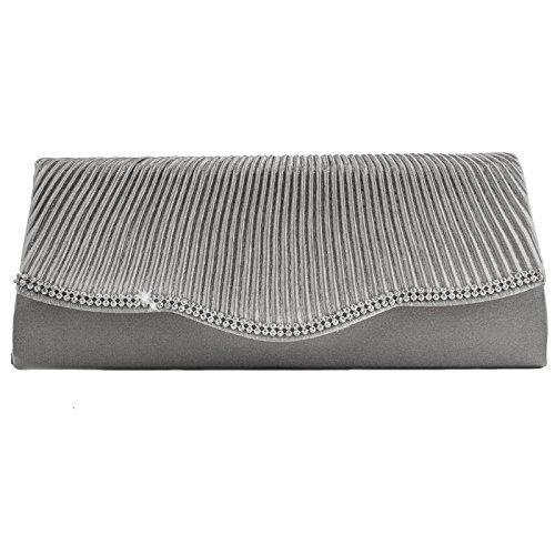 Toocool - Bolso de asas de Material Sintético para mujer gris