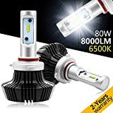 9005 LED Headlight Bulbs,Rigidhorse Conversion Kit With Perfect Beam Pattern,70W 7000LM 6000K Cool White CREE LED