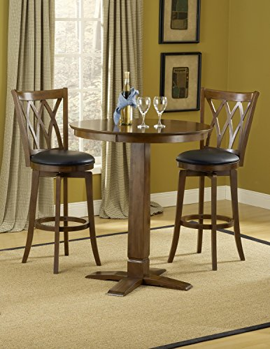 Hillsdale Furniture Mansfield/Dynamic Designs Pub Table Set in Brown Cherry -