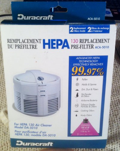 Duracraft Aca-5010 Hepa Filter Replacement Pre-filters