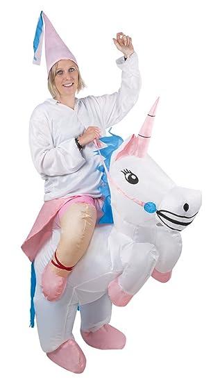 P tit payaso 91032 disfraz adulto inflable de unicornio ...