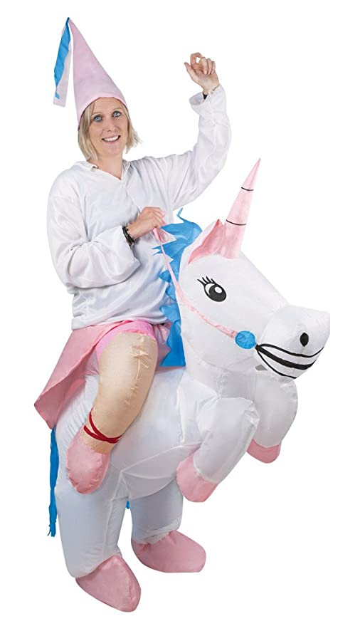 P tit payaso 91032 disfraz adulto inflable de unicornio, talla ...