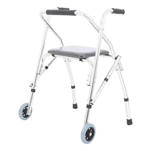 Walk Aid Andador de Aluminio para Personas Mayores con Ruedas y ...