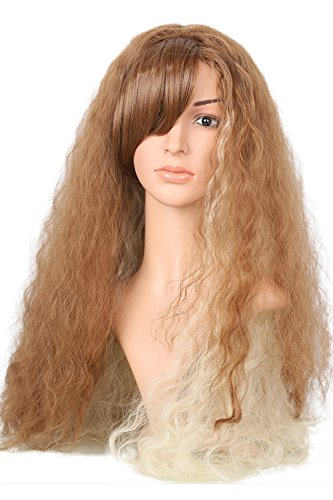 [Xcoser HP Cosplay Hermione Granger Long Wavy Brown Costume Wig] (Hermione Wig)