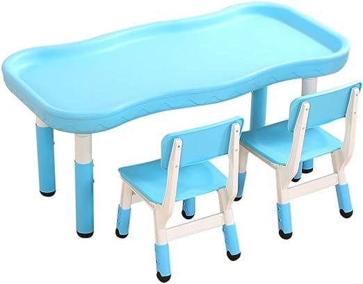 Children Desk Juego De Mesa Y 2 Sillas para Niños Mesa De Actividades De Plástico para