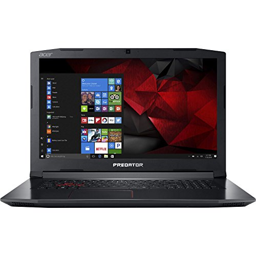 "Acer Predator Helios 300 17.3"" Full HD Gaming Laptop - 7th Gen Intel Core i7-7700HQ Processor up to 3.80GHz, 16GB Memory, 512GB SSD + 1TB HDD, 6GB Nvidia GeForce GTX 1060 Graphics, Windows 10"