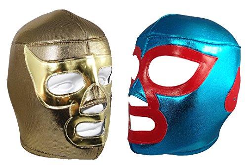 [2pk NACHO LIBRE/RAMSES Lucha Libre Wrestling Mask (pro-fit) Costume Wear] (Custom Wrestling Costumes)