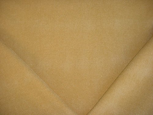 196H8 - Golden Yellow Soft Basketweave / Bamboo Chenille Designer Upholstery Drapery Fabric - By the Yard