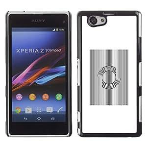 """For Xperia Z1 Compact D5503 Case , Patrón Vikingo nórdico Negro Blanco"""" - Diseño Patrón Teléfono Caso Cubierta Case Bumper Duro Protección Case Cover Funda"""