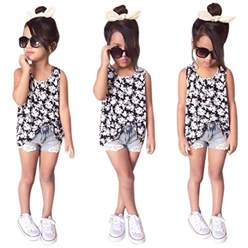Baby Girls Casual T-Shirt Dress Set (Multicolor) - 2