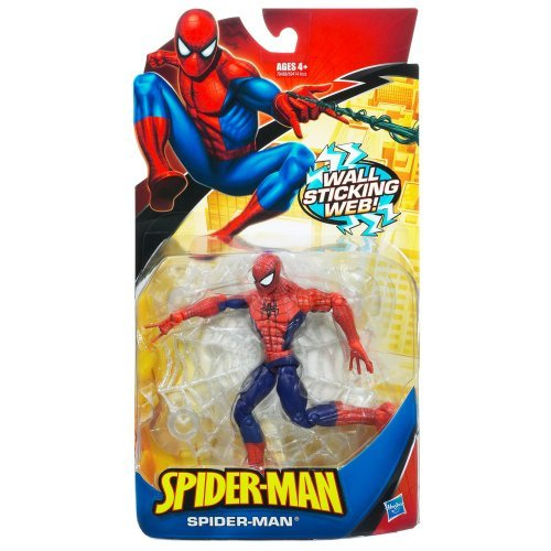 (Spider-Man Trilogy: Classic Heroes Red & Blue Spider-Man with Wall Sticking Web Action Figure)