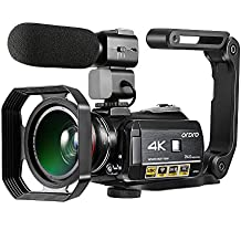 4K Camcorder, ORDRO AC3 Ultra HD Video Camera 1080P 60FPS WiFi Camera and IR Night Vision Camcorder 3.1'' IPS Touch Screen Digital Camcorders with Microphone Wide Angle Lens