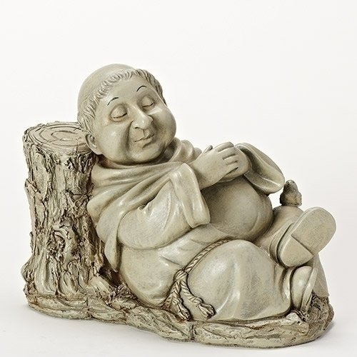 Roman Inc. 8″H NAPPING MONK Garden Statue For Sale
