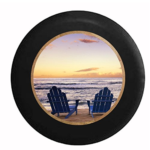 Full-Color-Blue-Beach-Chairs-Overlooking-Sunset-Sunrise-at-the-Ocean-Lake-Jeep-RV-Camper-Spare-Tire-Cover