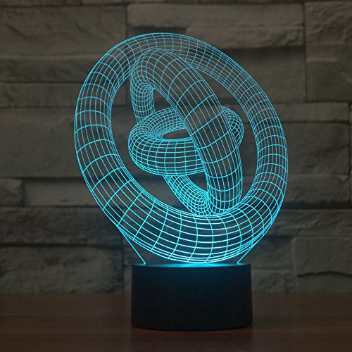 Comics+3D+Night+Lamp+ Products : Circle 3D Led Night Light Acrylic Desk Lamp Touch Swithch 7-Color Xmas Gift