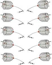 Mimilure 10Pcs/Pk Carp Fishing Bait Trap Cage Feeder Basket Holder Coarse Lure Feeder Carp Fishing Tackle Kit,