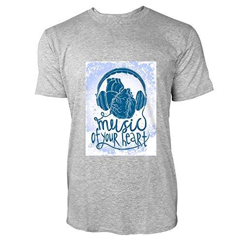 SINUS ART® Music Of Your Heart mit Herz & Kopfhörer Herren T-Shirts in