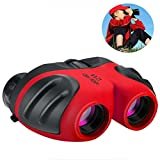 #9: Birthday Gifts for Boys, DIMY 8x21 Compact Fogproof Binoculars for Hiking Hunting Red DL04