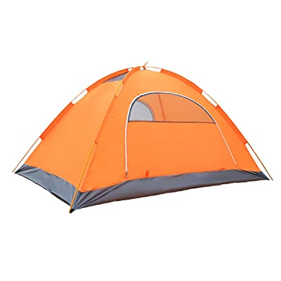 2 Personne Double Couche Camping étanche Backpacking Tent,Yellow
