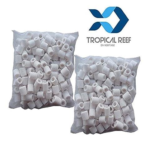 Tropical-Reef - Filtros de cerámica, filtro biológico para acuarios y peceras, bolsa de 500 g: Amazon.es: Productos para mascotas