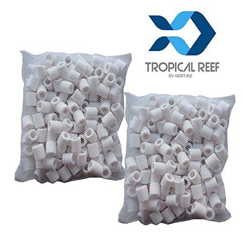 Anillos de filtro de cerámica de Tropical-Reef, filtro biológico para acuarios y peceras, 1 kg en bolsas: Amazon.es: Productos para mascotas