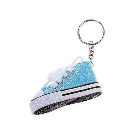 SODIAL Moda Zapato Colgante Llavero De Lona Y PláStico Llavero De Regalo - Azul Claro