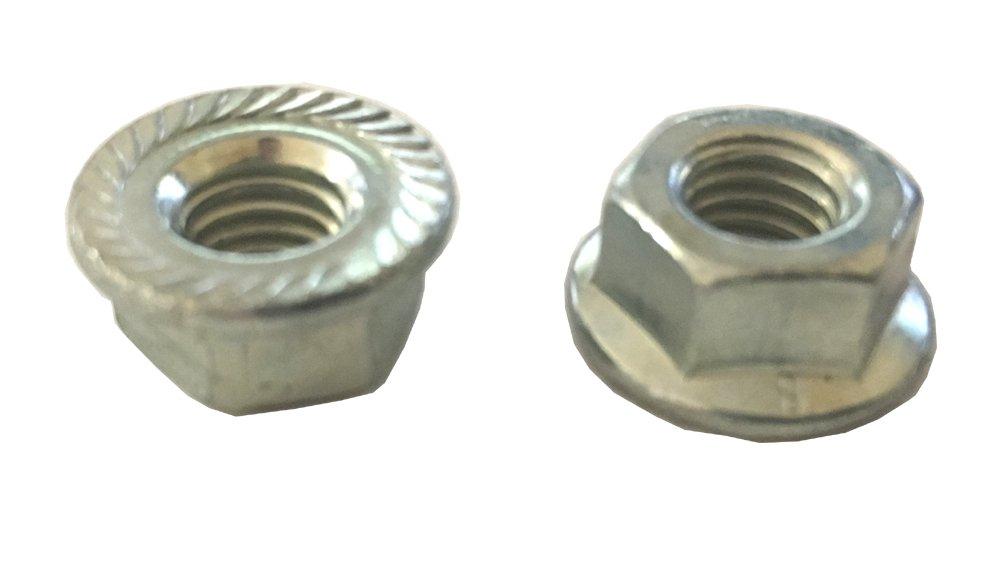 25 M8-1.25 Top Lock Hex Flange Nut Class 8 with Serrations Zinc Clipsandfasteners Inc