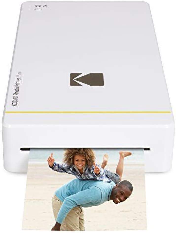 Kodak Photo Printer Mini WiFi - Impresora fotográfica (Impresión por sublimación, Cian, Magenta, Amarillo, 16,7 M, MicroUSB), blanco