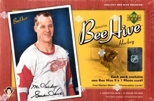2005/06 Upper Deck Beehive Hockey HOBBY Box (Hockey Scrapbook Card)