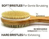 Bath & Relax Bamboo Back Body Scrubber Bath Brush, 17-Inch Long