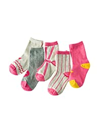5 Pairs Emmas Style Korean Kids Cute Mixed colors Cotton Socks