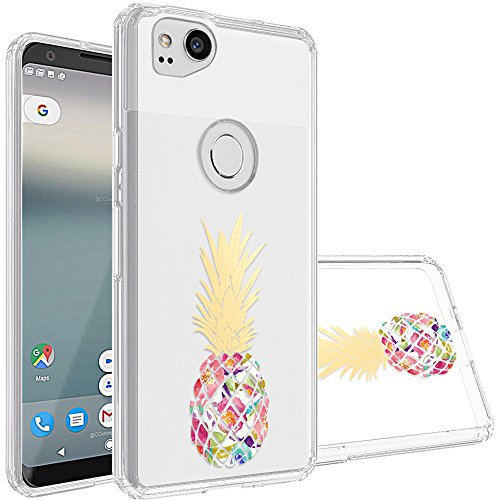 Google Pixel 2 Case,Topnow [Anti-Scratch PC + Shockproof Anti-Drop Soft TPU] Advanced Printing Pattern Phone Cases Glossy Drawing Design Cover for Google Pixel 2(Colorful Pineapple)